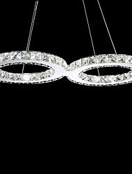 12W Modern/Contemporary / Traditional/Classic / Country Crystal / LED Metal Chandeliers Living Room