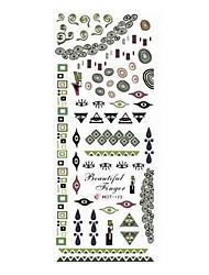 2шт Зеленый Тотем Дизайн ногтей Watermark наклейки HOT-123