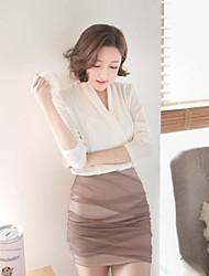 Women's Brown Skirts , Vintage/Bodycon Mini