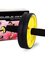 JOEREX® Unisex Double Exercise Wheel Yellow + Black