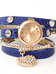 cuir oser u mode punk diamantée élégant montre de chaîne