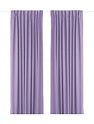 One Panel Back Tap Top  Modern Minimalist Purple Solid Energy Saving Curtain