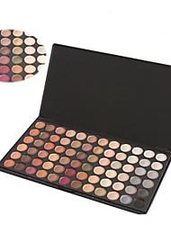 profesional de 72 colores cálidos sombra de ojos maquillaje conjunto paleta