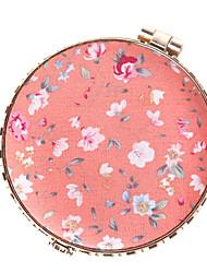 espejo de aumento época de color rosa portátil