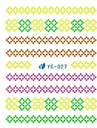 yemannvyou®5pcs стиле аниме искусства ногтя люминесцентные водяные знаки наклейки Юг-027
