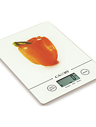 5kg/11lb LCD Digital Kitchen Scale with 14mm Slim Body Thickness and 3mm Tempered Glass