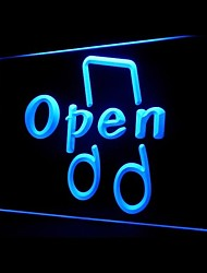 OPEN Music Playing Advertising LED Light Sign