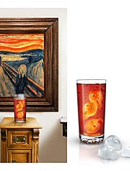 Edvard Munch's Painting The Scream Ice Mould Silicone Random Color (8.24x4.24x1 inch)