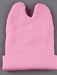 Women's  Small Devil Horns Knitted Cap Cat Ear Wool Hat