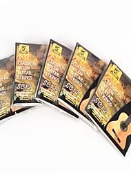 PE12 banhados em prata de nylon cordas de violão clássico 5pcs