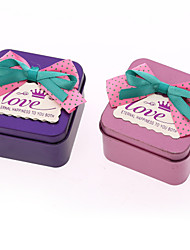 6 Piece/Set Favor Holder - Cubic Iron(nickel plated) Favor Boxes/Favor Tins and Pails Non-personalised
