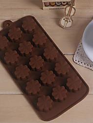 15 отверстие повезло трава форма торт льда желе шоколадные формы, силиконовые 21.2 × 10.2 × 1.5 см (8.3 × 4.0 × 0.6 дюймов)