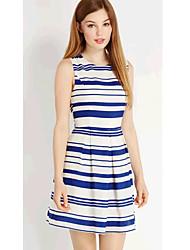 DYS Chiffon Stripes Sleevless Vestido