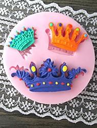 Three Crown Bake Fondant cake mold,L7cm*W7cm*H1cm