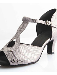 Customizable Women's Dance Shoes Latin/Ballroom Other Customized Heel Silver