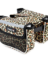 TANLU 1680D Polyester and Mesh Leopard Cycling Frame Bag