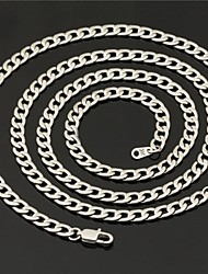 U7 Quality Men's Link Cuban Chain Necklace Bracelet Set 316L Titanium Steel 5MM 22Inches (56CM)