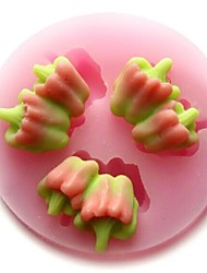 перец овощи выпечки помадки торт Шоколадные конфеты плесень, l5.4cm * w5.4cm * h0.9cm