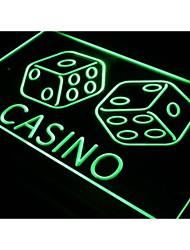 dés de casino i347 jeu chanceux signe de la lumière bar pub de néon