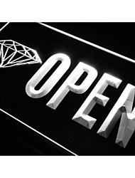 j788 negozio negozio diamante aperte acquistare nuovo segno della luce al neon