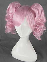 Cosplay Wigs Puella Magi Madoka Magica Cosplay Pink Medium Anime Cosplay Wigs 45 CM Heat Resistant Fiber Female