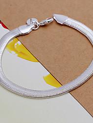 lebendige Frauen Schlange Knochen Silberplatte Armband