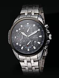 Men's Fashion Military Style Calendar Steel Band Quartz Wrist Watch