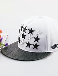unisex elegante casquillo de la estrella negro y mierda