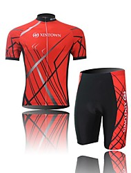 XINTOWN® Camisa com Shorts para Ciclismo Homens Manga Curta MotoRespirável / Secagem Rápida / Permeável á Humidade / Compressão /