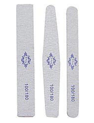3PCS 18cm Mixed Styles Silver Emery Nail Art File