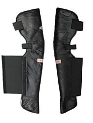 genuínos almofadas de couro motocicleta equitação corrida joelho joelho protetor preto