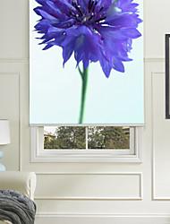 Botanic Style Blue Flower Roller Shade