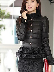 Women's Short Lace Top Down Jacket Cotton Coat