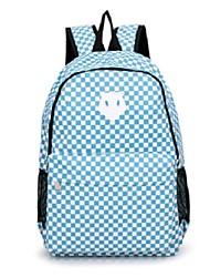 Women's New Retro Plaid Nylon Oxford Book School Bag Camping Backpack