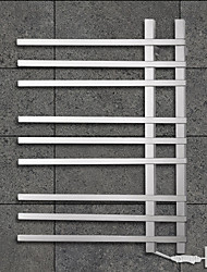 90W Towel Warmer 304# Stainless Steel Mirror Polished Drying Rack Wall Mount