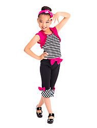 Performance Kids' Fitness Spandex Satin Modern Dance Top & Bottom Outfits Kids Dance Costumes