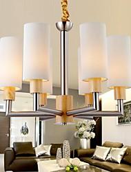 pingente de carvalho lâmpada, seis luzes, carvalho e vidro, 220 ~ 240V (hy8036)
