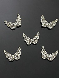 10pcs   Clear Rhinestone Angle Wing For Finger Tips Jewelry Accessories Nail Art Decoration