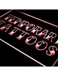 J430 tatouages temporaires boutique d'art signe de lampe au néon autocollant