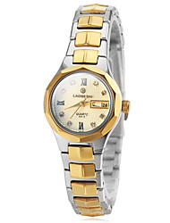 Women's Fashion Watch Wrist watch Japanese Quartz Stainless Steel Band Gold Brand