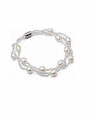 Jewelry Magnet Buckle Bracelet Copper Shell Bead Bracelet Korean Version of Women's fashion classic