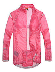 SANTIC Women's Cycling Rain Jacket/Waterproof jacket/Raincoat (Pink) Outdoor Anti UV Ultralight Breathable