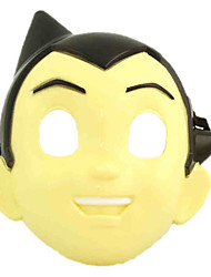vívida menino astro amarelo pvc unisex máscara do partido do dia das bruxas