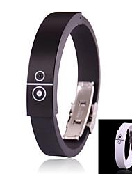 style cool bluetooth rechargeable appel entrant alerte vibreur bracelet (noir)