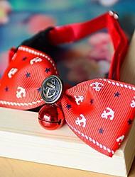 De luxo de estilo colorido coleira ajustável com laço para cães gatos animais de estimação (pescoço: 20-32cm)