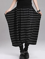 Women's Black Loose/Harem Pants , Vintage/Casual/Plus Sizes