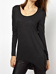 Women's Casual Loose Backless Long T-shirts