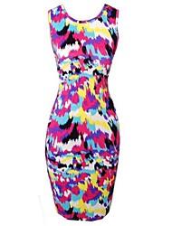 Women's Flower Print Bodycom Dress