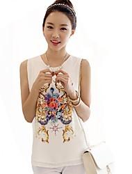 Floral Print Leisure Chiffon Shirt