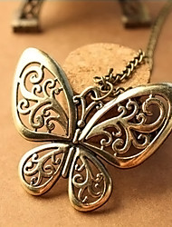 moda myjk high end borboleta do vintage em forma de colar longo oco